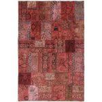 Patchwork kézi csomózású gyapjú szőnyeg 197x305cm