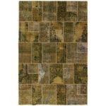 Patchwork kézi csomózású gyapjú szőnyeg 199x298cm