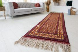 Kézi csomózású perzsa szőnyeg afghan kaukázus prémium 291x84cm