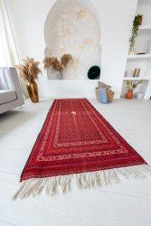 Kézi csomózású perzsa szőnyeg 197x85cm