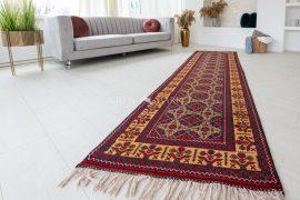 Kézi csomózású perzsa szőnyeg afghan kaukázus prémium 294x87cm