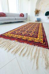 Kézi csomózású perzsa szőnyeg afghan prémium 196x90cm