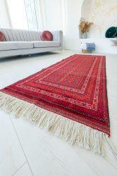 Kézi csomózású perzsa szőnyeg afghan prémium buhara 88x205cm