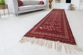 Kézi csomózású perzsa szőnyeg afghan prémium 285x88cm