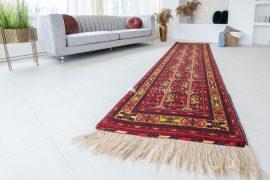 Kézi csomózású perzsa szőnyeg afghan kaukázus prémium 288x83cm