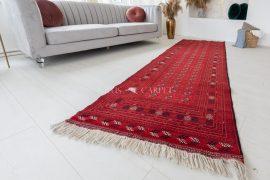 Kézi csomózású perzsa szőnyeg afghan prémium buhara 292x97cm