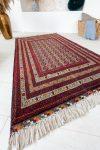 Kézi csomózású perzsa szőnyeg prémium buhara 145x100cm