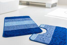 Fürdőszoba szőnyeg tenger kék 2 részes