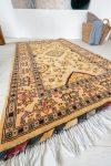 Kézi csomózású perzsa szőnyeg Ziegler cream beige sárga 150x101cm