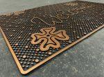 Extra bronz flower gumis lábtörlő 45x75cm