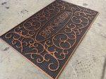 Extra bronz inda flower gumis lábtörlő 45x75cm
