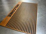 Extra bronz csíkos gumis lábtörlő 45x75cm