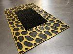 Extra gold leopard gumis lábtörlő 45x75cm