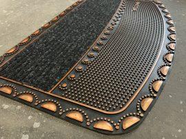 Extra bronz kis talpas gumis lábtörlő 45x75cm