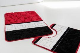 Fürdőszobaszőnyeg 2 részes black red stone