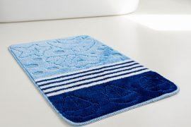 Fürdőszobaszőnyeg 1 részes kék kagylós 50x80cm