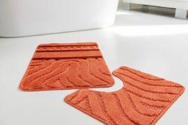 Fürdőszoba szőnyeg 2 részes terra hullámos