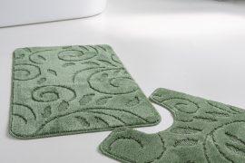 Fürdőszobaszőnyeg 2 részes zöld indás