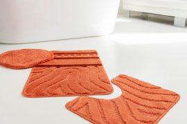 Fürdőszoba szőnyeg 3 részes terra hullámos