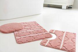 Fürdőszobaszőnyeg 3 részes mályva berber mintás 50x80cm