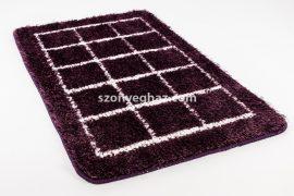 Fürdőszoba Suba szőnyeg 50x80cm 1 részes lila kocka  mintás