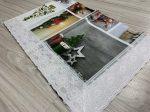 Ariana fehér karácsonyi csípkés lemoshato asztal terítő 122x152cm