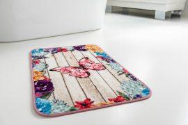 Pillangos 3d pink fürdőszoba szőnyeg 60x100cm