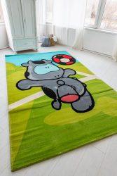 Gyerek szőnyeg gray cow focis 200x300cm