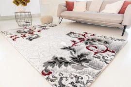 Italy 017 black red (fekete-piros) szőnyeg  60x220cm