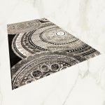 Italy art Luxury 1411 black white 80x250cm