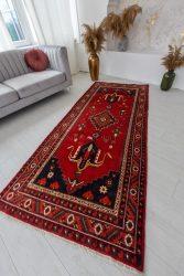 Kézi csomózású perzsa szőnyeg Hamadan 264x114cm