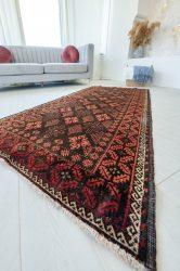 Kézi csomózású perzsa szőnyeg Baluch antik terra 205x97cm