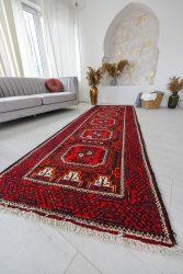 Kézi csomózású perzsa szőnyeg Hamadan 304x105cm