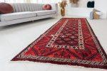 Kézi csomózású perzsa szőnyeg Belucchi red 244x117cm