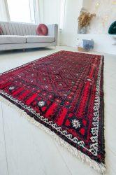 Kézi csomózású perzsa szőnyeg Baluch red 208x113cm