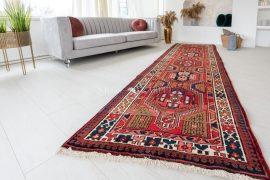 Kézi csomózású perzsa szőnyeg Hamadan 337x108cm