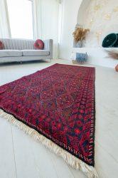 Kézi csomózású perzsa szőnyeg Baluch red 205x106cm