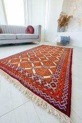Kézi csomózású perzsa szőnyeg Baluch narancs 182x103cm