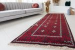 Kézi csomózású perzsa szőnyeg Belucchi red 280x110cm