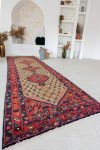Kézi csomózású perzsa szőnyeg Hamadan 360x105cm