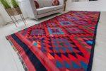 Kézi csomózású perzsa killim szőnyeg 370x162cm