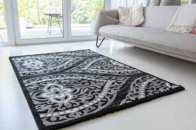 Italy art luxury 1805 black (fekete) szőnyeg 80x250cm Szôn