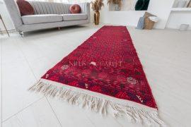 Kézi csomózású perzsa szőnyeg afghan prémium futó szőnyeg 294x80cm