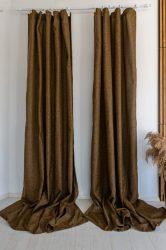 Moderno Sötétítő függöny Caffe Brown ( Kávé barna )  2db 160x270cm
