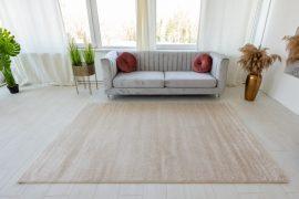 Trend egyszinű beige (bézs) szőnyeg 80x250cm