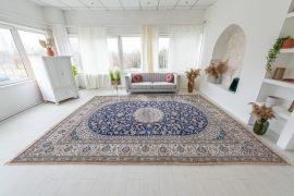 Kézi csomózású perzsa Nain szőnyeg 410x300cm