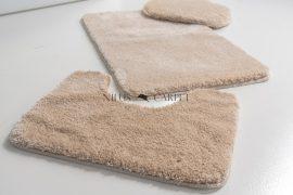 Shaggy beige Vajpuha 3 részes fürdőszoba szőnyeg 60x100cm