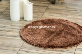 Shaggy Csoki Vajpuha 100cm Kerek Szőnyeg és Fördőszoba szőnyeg
