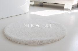 Shaggy fehér Vajpuha 80cm  Kerek Szőnyeg és Fördőszoba szőnyeg