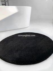 Shaggy black (fekete) Vajpuha 80cm  Kerek Szőnyeg és Fürdőszoba szőnyeg